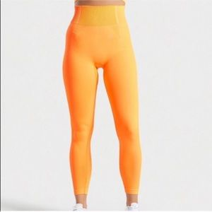 Gymshark NWOT Ultra seemless leggings neon orange
